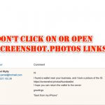 Dont Click On or Open Screenshot.photos Links
