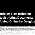 Hofeller Files including Redistricting Documents Posted Online by Daughter Stephanie