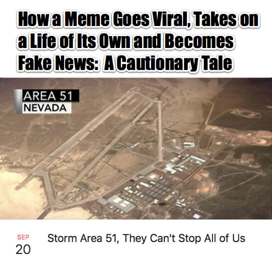 How a Meme Goes Viral, Takes on a Life of Its Own, Becomes Fake News and then Real: a Cautionary Tale
