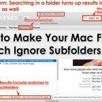 How to Make Your Mac Finder Search Ignore Subfolders