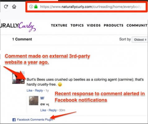 facebook comments plugin privacy