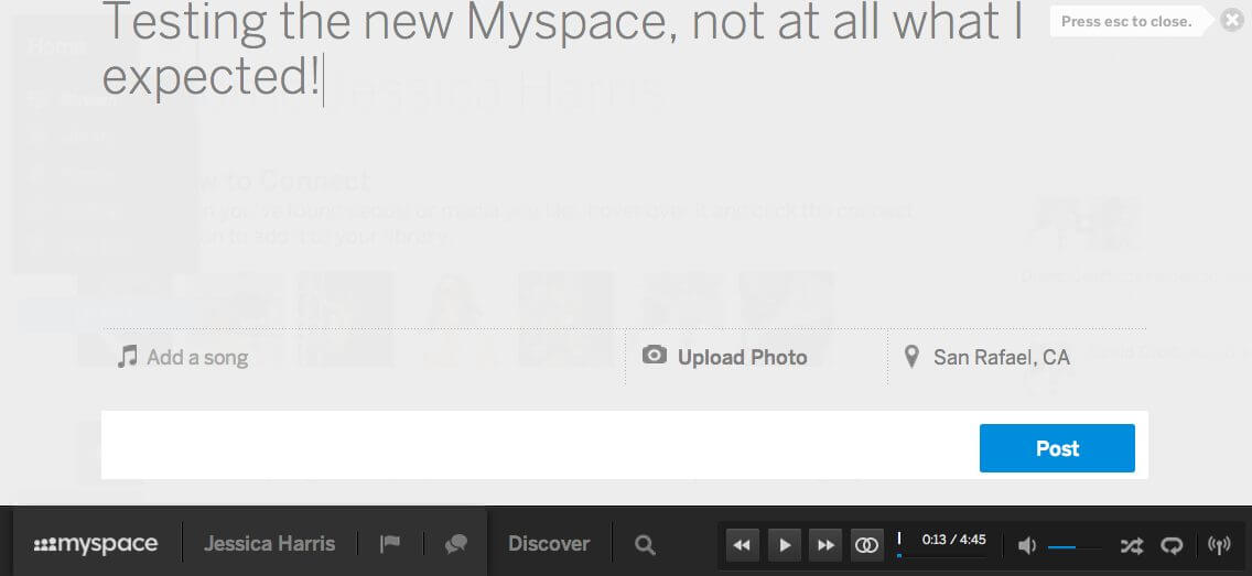 Review of the New MySpace: Better Than Pandora, Nothing Like Facebook, Pinterest or Even the Old MySpace!