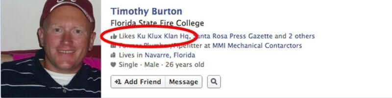 Facebook Graph Search Reveals Who Likes the Ku Klux Klan, and Who Likes Some Good Old Fashioned Raping