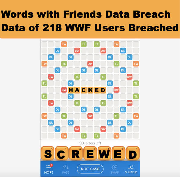 Words with Friends Hack - Data of 218 WWF Users Breached Along with Zynga Property Draw Something