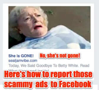 ad to report to facebook