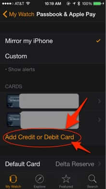 add card apple pay watch iphone 5 6