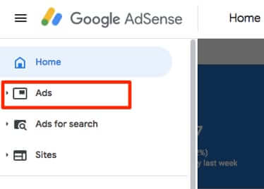 adsense home ads