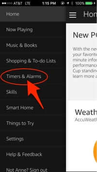 amazon alexa app timers and alarms
