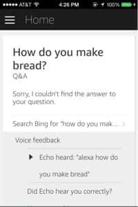 amazon echo search link in app