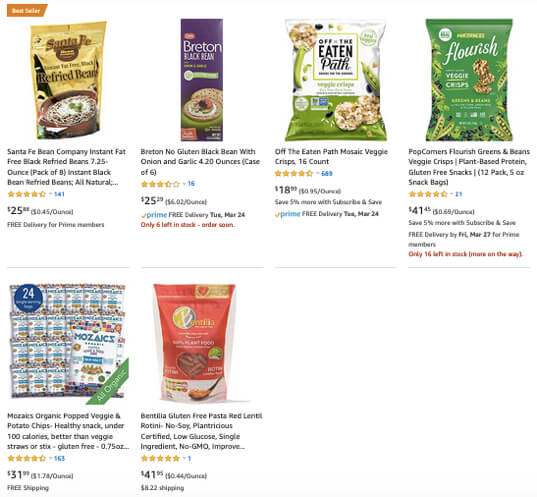 amazon frustration-free packaging fresh whole foods results removed