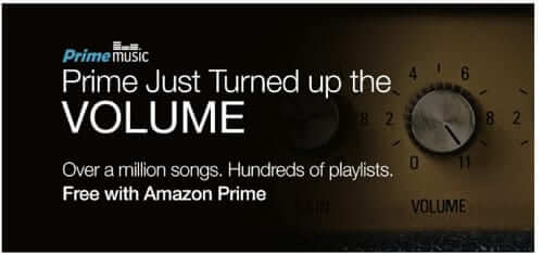 Amazon Prime Music Service:  Unlimited Streaming Music and Unlimited Skips