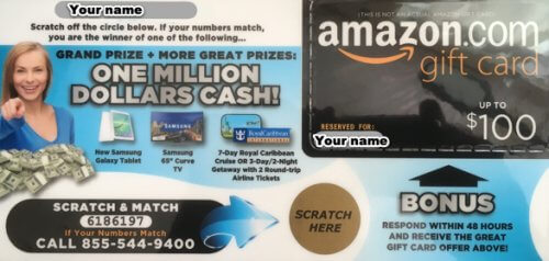 amazon scratch and match gift card scam