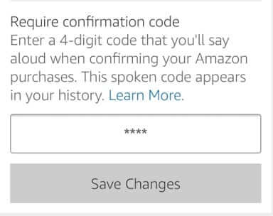 amazon echo voice ordering code