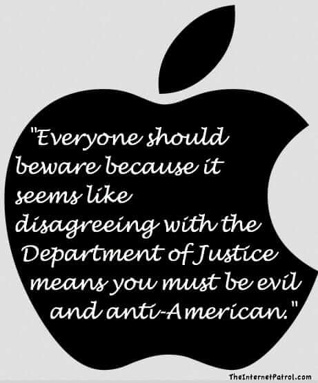 Apple: It Seems Disagreeing with DOJ Means You Must be Evil and anti-American