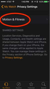 apple watch app settings motion and fitness