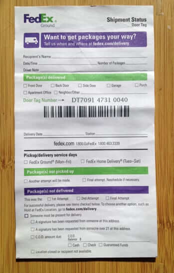 Got a Blank Doortag Notice from FedEx on Your Door? & Got a Blank Doortag Notice from FedEx on Your Door? Hereu0027s Why - The ...