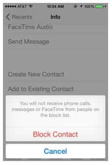block contact iphone