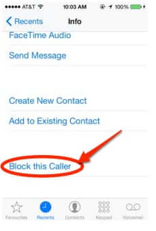 block this caller iphone