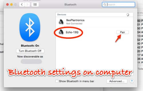 bluetooth settings on computer