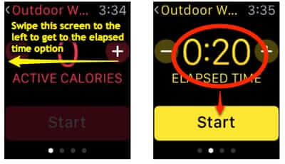 calibrate apple watch walking for 20 minutes