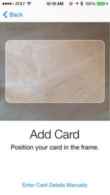 capture credit debit card with iphone camera apple pay