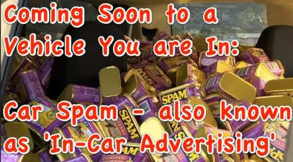 Coming Soon to Your Car's Dashboard:  Advertisements a/k/a Car Spam