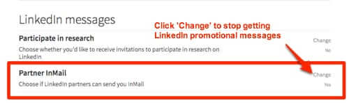 change linkedin partner inmail setting