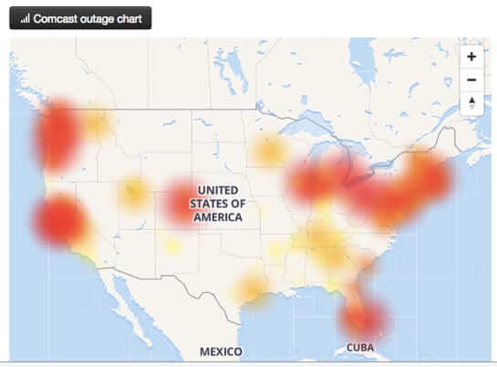 comcast phone telephone outage June 2018-1