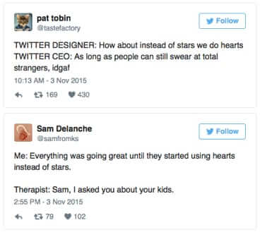 complaints about twitter hearts