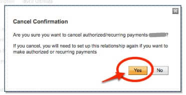 confirm paypal subscription cancellation