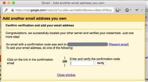 confirmation of new send from email address gmail