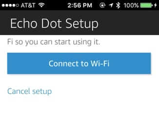 connect echo dot to home wifi network setup