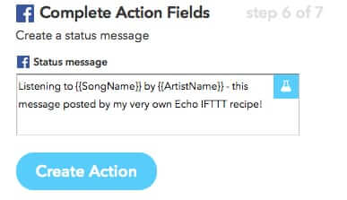 customized ifttt recipe