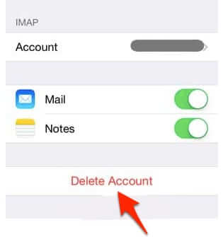 delete iphone email gmail account