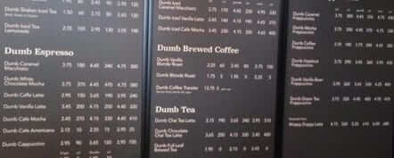 dumb starbucks menu