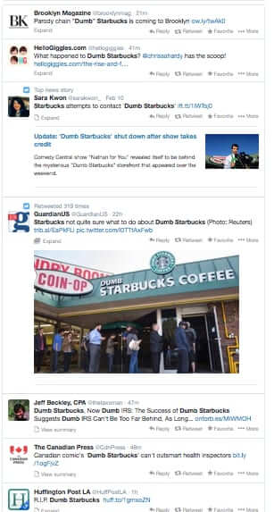 dumb starbucks on twitter