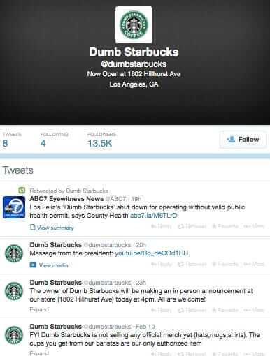 dumb starbucks twitter