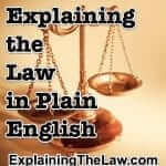 Please Welcome Our Sister Site: Explaining the Law.com!