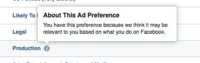 facebook ad preference why