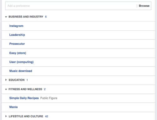facebook ad preferences expanded