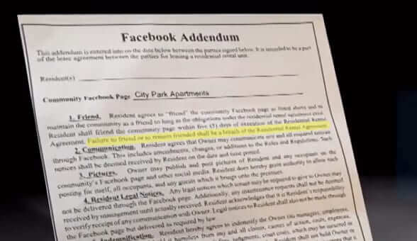 Apartment Complex Tries to Force Tenants to Like Them on Facebook