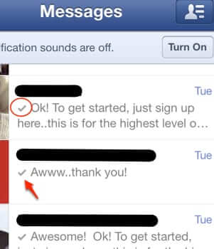 facebook messages marked as read-1