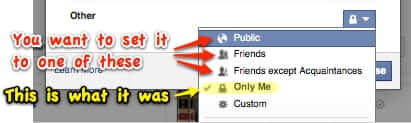 how to change share settings on facebook