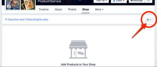 facebook shop settings