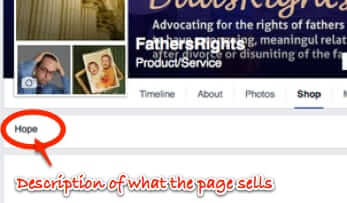 fathers rights facebook page shop sells hope