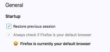 firefox default browser