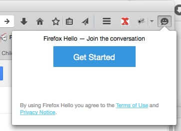 firefox hello clicked
