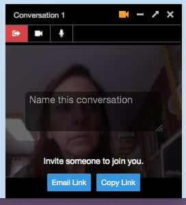 firefox hello video chat started