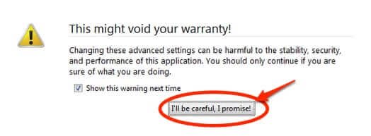 firefox this might void your warranty I_ll be careful I promise