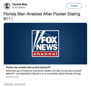 florida man arrested after pocket dialilng 911